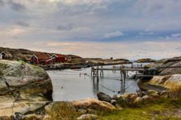 Skärgårdshamn vid Väderöarna utanför Fjällbacka.